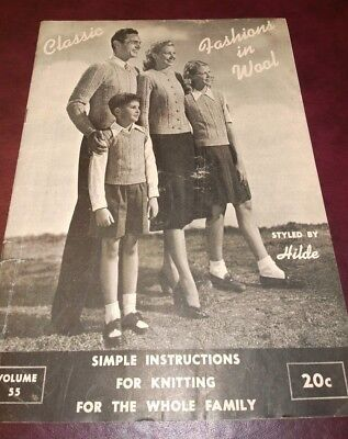 Винтажные Vintage Knitting Pattern Booklet by