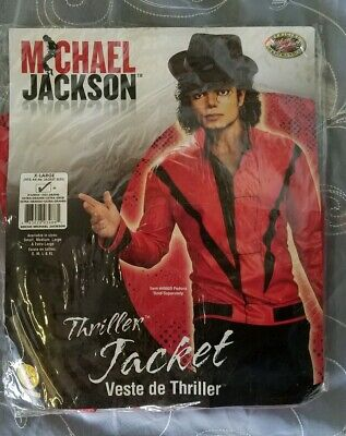 Michael Jackson Thriller Jacket Costume Glove Wig M-xl
