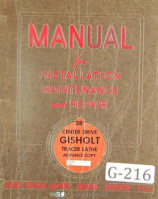 Gisholt 3d Simplimatic Lathe Detroit Tracer Controls Operation Manual 1963