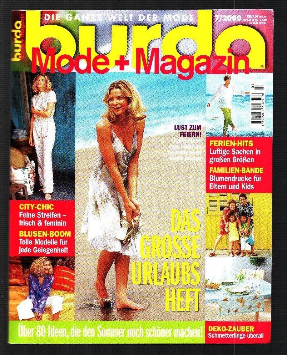 burda Mode + Magazin 07/2000 mit Nähjournal und Schnittmuster ...