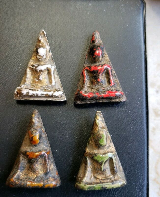 (4) Piece  Set of Nang Phaya Thailand Buddhist Temple Amulets