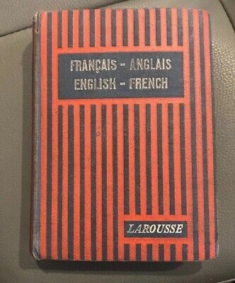 Vintage 1928 Larousse French-English English-French Dictionary By Chaffurin French Dictionary Book