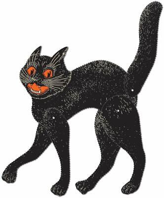 Beistle Jointed Scratch Cat, 20-1/2-Inch Halloween-Vintage Party Item Black