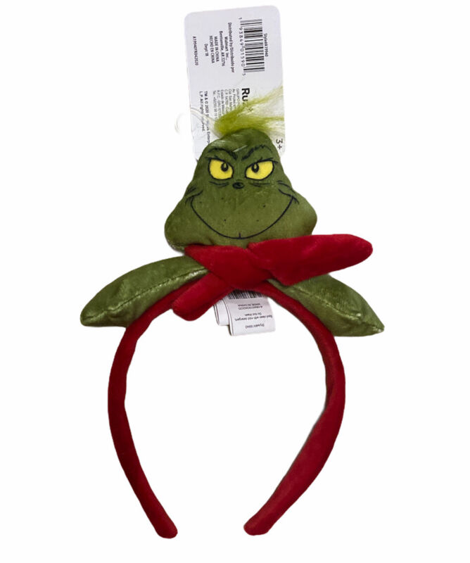The Grinch Christmas Headband New One Size