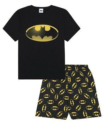 Batman Mens Pajamas (Men's Batman Character Cotton SHORT Pyjamas Sizes M to 3XL Mens)