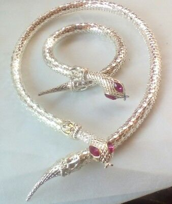 Necklace/Bracelet.Snake Set.Silver Plated Costume  Jewellery. Fast Delivery.](Costumes Fast Delivery)
