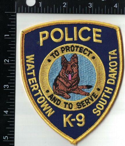 Watertown Police K9 Canine Police Patch South Dakota SD