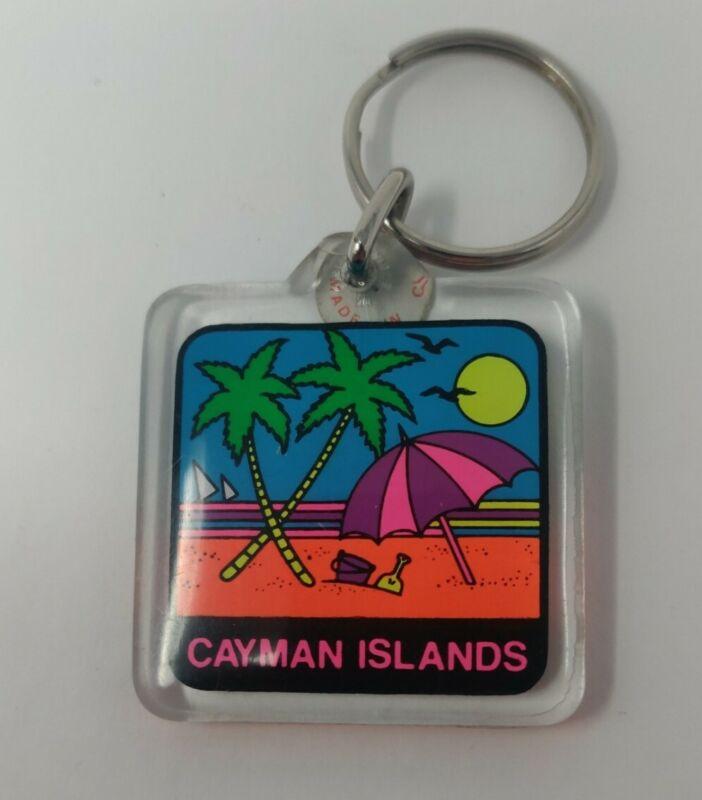 Vintage Cayman Islands Advertisement Keychain
