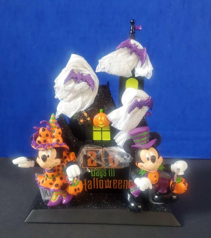 Disney Parks Mickey & Witch Minnie Countdown to Halloween Calendar Rare Retired