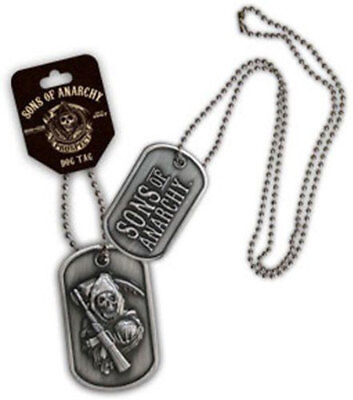 Sons Of Anarchy Large Reaper 2 Sided Dog Tag Necklace   Kurt Sutter  Jax  Samcro