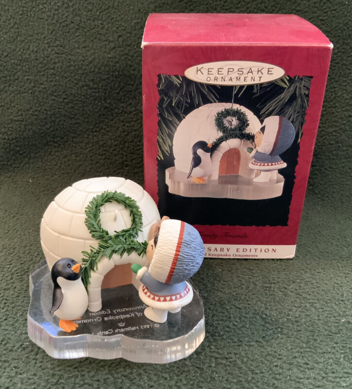 Frosty Friends 20th Anniversary Edition 1993 Hallmark Keepsake Ornament W/ Box