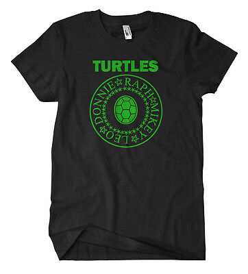 Turtles Band T-Shirt Fun Kult Splinter Shredder Teenage Mutant Ninja TMNT (Ninja Turtle T Shirt)