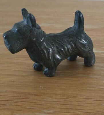 SMALL Vintage Art Deco METAL Scottie Dog Scottish Terrier Figure
