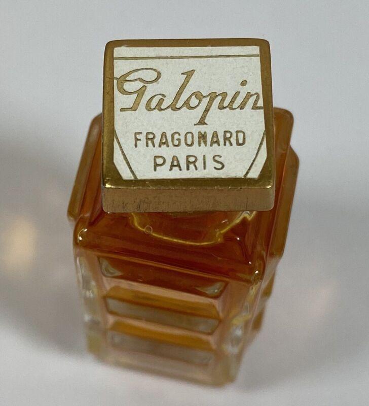 Vintage Mini Fragonard Paris Glass Perfume Bottle Galopin Fragrance Full
