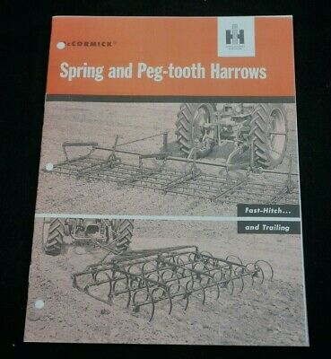 Ih Farmall Fast Hitch Spring Peg Tooth Harrows Brochure Cub 100 200 1pt 2pt