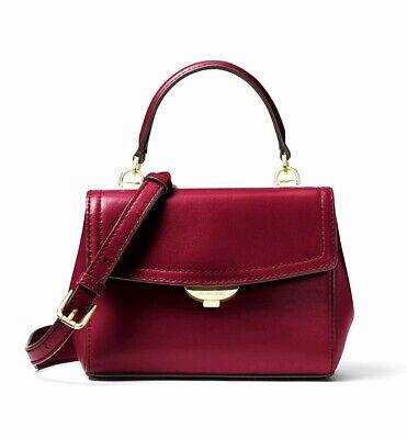 Michael Kors Bag Handbag Ava Xs Crossbody Maroon New