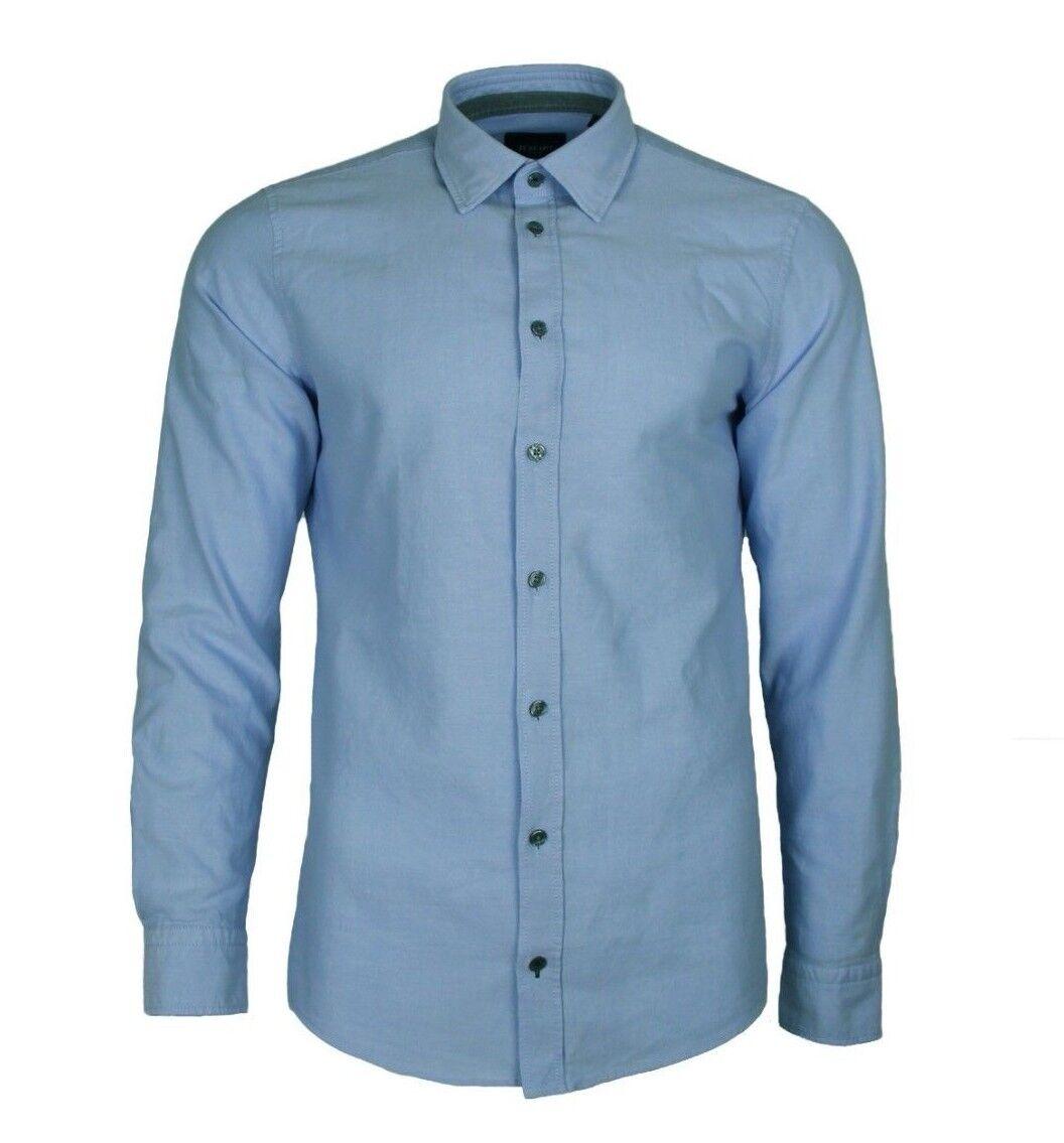 L JOOP Hemd aus Oxford Hanson Herrenhemd Eisblau Gr Jeans