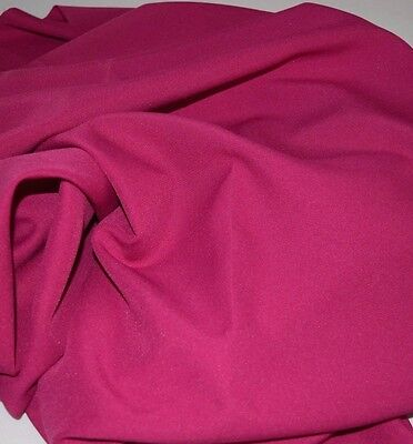 """Raspberry Gabardine Tropical Polyester 60 to 62"""" wide, free swatches, for sale  Miami"""
