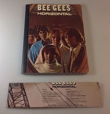 """Recycled Record Album Cover Notebook / Journal / """"The Bee Gees"""" W/ Book Marker"""