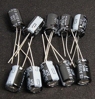 10pcs 330uf 25v Electrolytic Capacitor 25v330uf Rubycon Zlh Low Esr Japans Cap