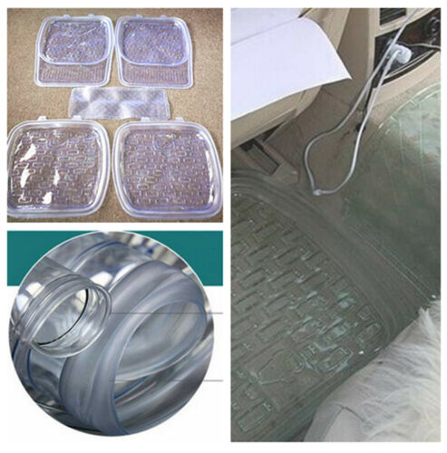 High Quality Non-slip Transparent Car Floor Mat Clear Foot Pads for 5-seat Car