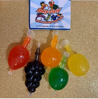 Dely Gely Fruit Jelly 5 Pieces Sampler Count Snack FREE SHIPPING Tik Tok CANDY