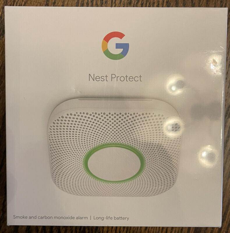 Nest Protect Smoke and Carbon Monoxide Alarm 2nd Gen (Battery) S3000BWES