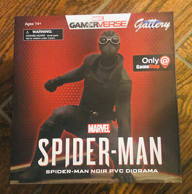 Marvel Video Game Gallery Spider-Man Noir PVC Diorama Gamestop Exclusive Statue