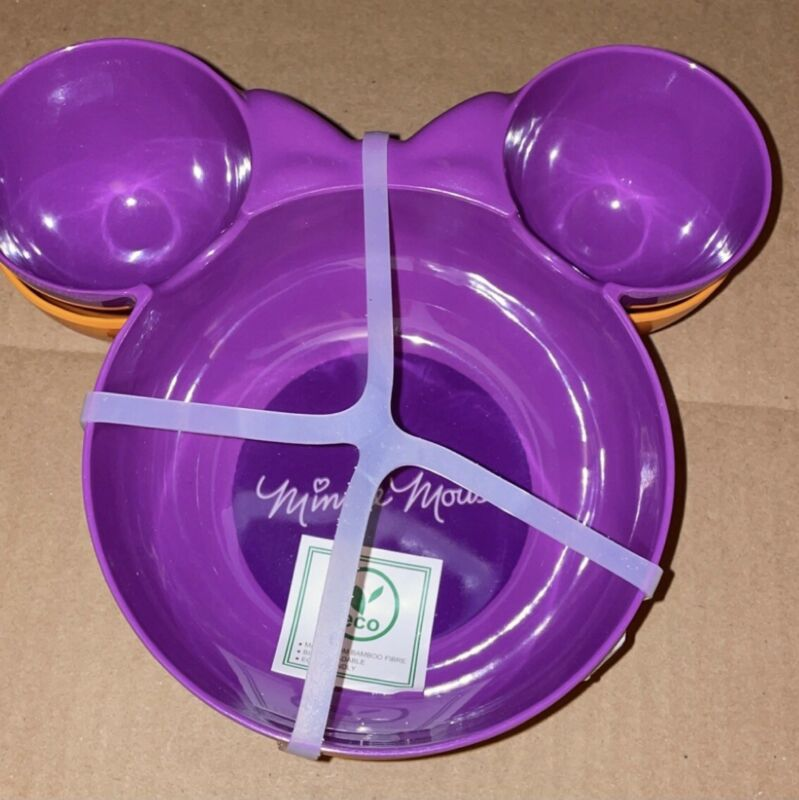 DISNEY Minnie Mouse HALLOWEEN Shaped 2 Pack Bowls New