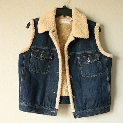 Liz Claiborn Jean Jacket - Sherpa Lined - Petite L for sale  Shipping to South Africa