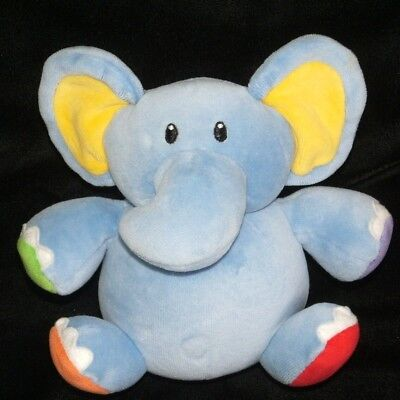 Baby Gund Elephant Chime Ball Rockin Rompers Plush Toy Blue 5783 Roly Poly 6