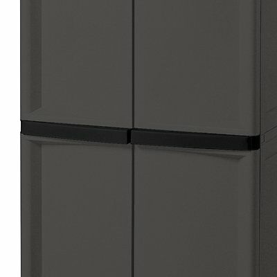 Sterilite Adjustable 4-Shelf Storage Cabinet With Doors, Gray | 01423V01