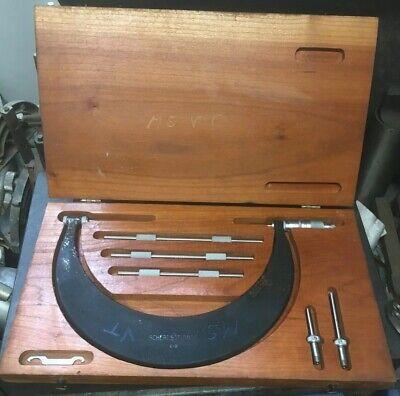 6-9 Scherr Tumico Tubular Oustide Micrometer Set W Standards In Case M09