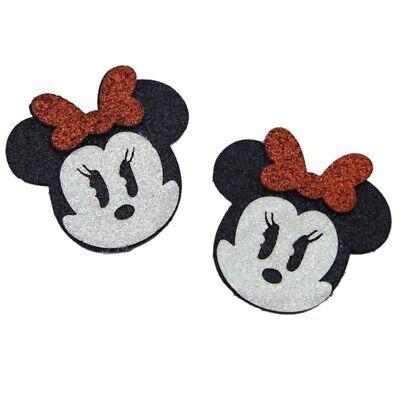 Minnie Mouse Hair Bow (2 Inch Girls Foam Glitter Disney Minnie Mouse Hair Bow Center)