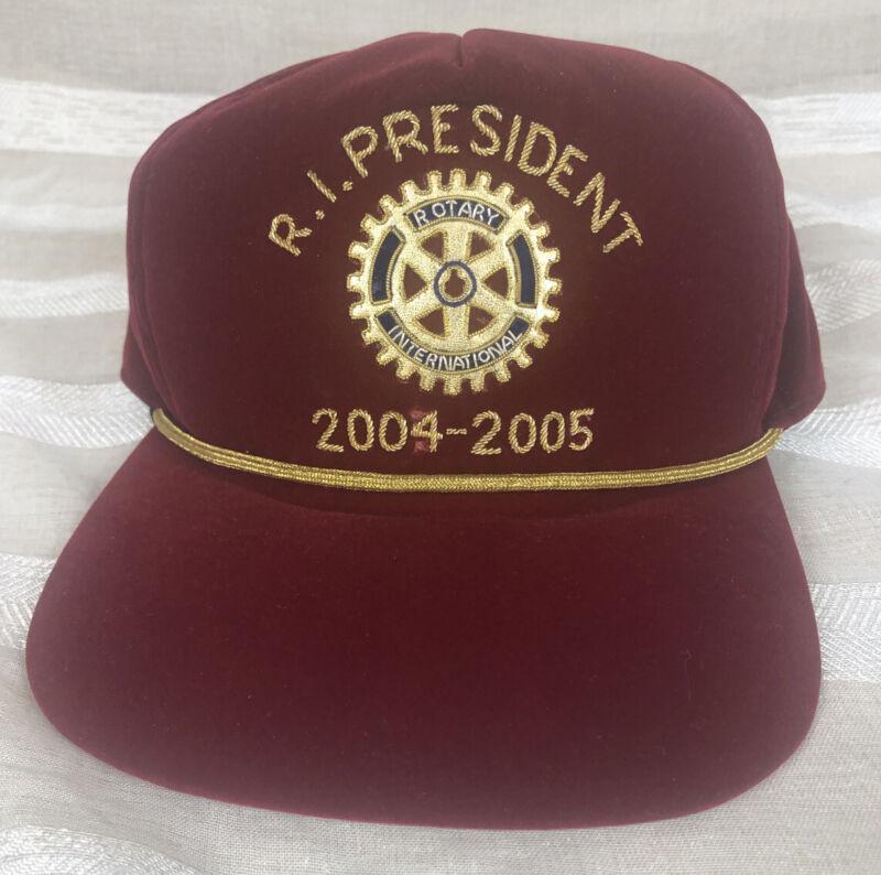 Vintage Rotary International Snapback Hat R.I. President 2004-2005 Glenn Estess