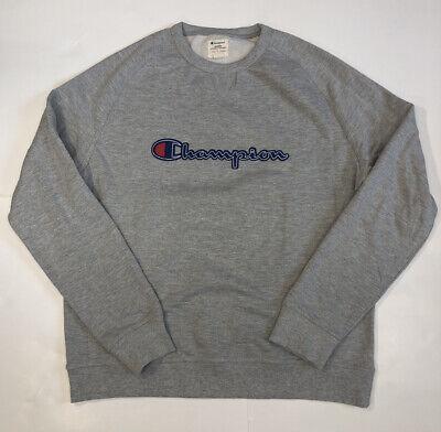 Champion Mens Logo Sweatshirt, Size XL Light Gray Embroidered Crew Neck NWOT Champion Crew Neck Sweatshirt