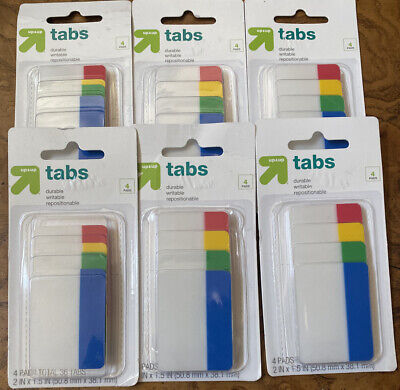 Lot Of 6 New Up And Up Tabs With 4 Pads Pack35 Tabs Per Pad Fast Free Shipping