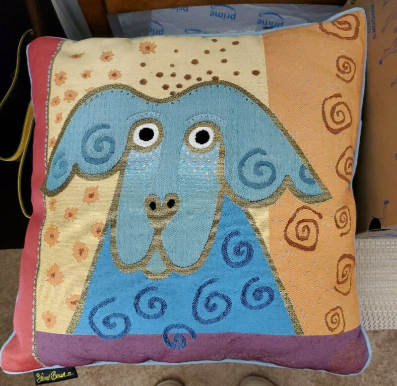 """Laurel Burch Tapestry 18"""" Dog Pillow 18"""" Square"""