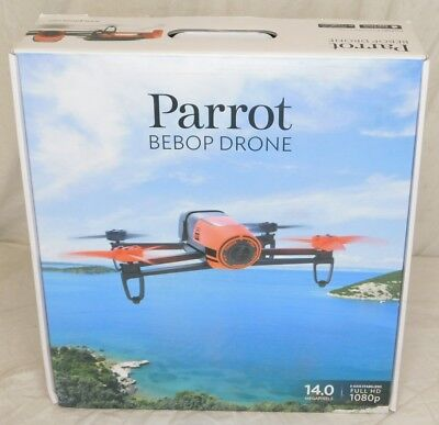 Parrot BeBop Drone 14 MP Full HD 1080p Fisheye Camera Quadcopter (Red) New