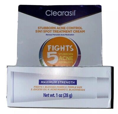 CLEARASIL Stubborn Acne Cream Fights 5 Acne Problems