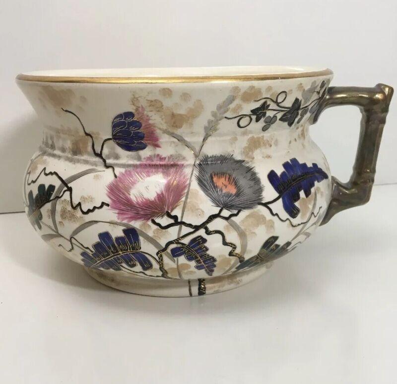 Vintage Ironstone Vase Chamber Pot Floral