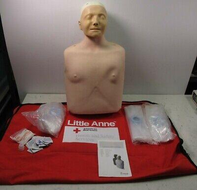 Laerdal Little Anne Medical Manikin Cpr Trainer American Red Cross Version W Bag