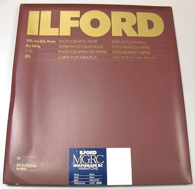 """Ilford Multigrade IV RC Warmtone 8"""" x 10"""" 25 sheets Black & White Pearl Paper"""