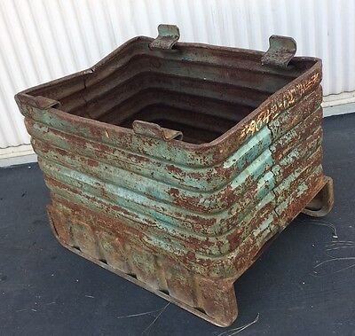 Vintagestackable Steel Box -material Handling Bulk Container Id32 X 22 X 18