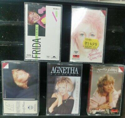 Agnetha & Frida ABBA LOT Of  Rare Audio Cassette