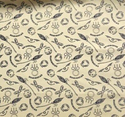Harry Potter Quidditch, golden snitch,bludger fabric Fat Quarter 46 x56cm sewing