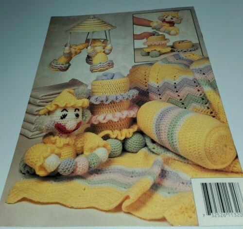 NOV20 ANNIE S ATTIC 1993, CLOWN NURSERY SET - 6 CROCHET DESIGNS - $10.00