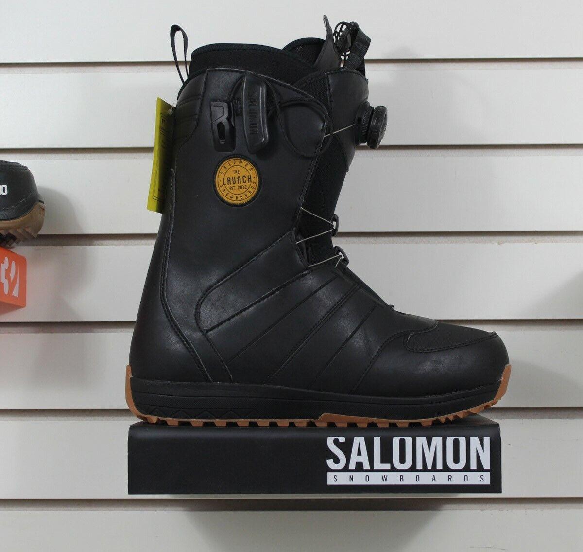 New 2018 Salomon Launch Boa SJ Snowboard Boots Size 9.5 Blac