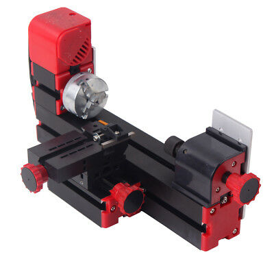 Mini Motorized Lathe Machine 24w Diy Tool Metal Woodworking Hobby Modelmaking