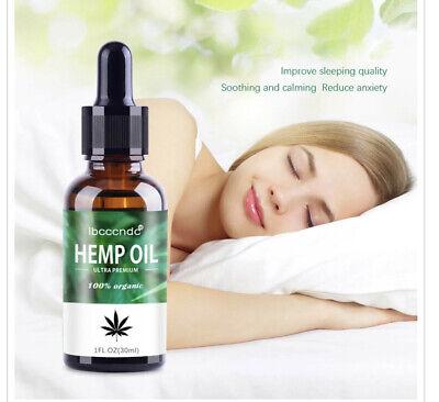 * Bio-aktive Hanf Öl Tropfen 1000 mg 15 ml Ultra Premium 100% Organisch Vegan